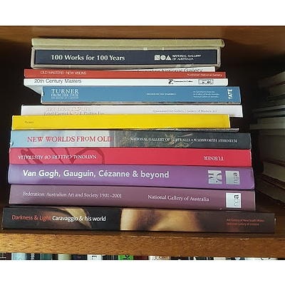Group of Australian Gallery Exhibition Catalogues, Including National Gallery of Australia, AGNSW, Queensland Art Gallery and More