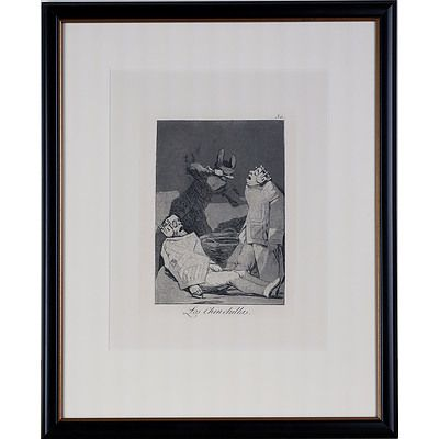 Francisco de Goya (Spanish 1746-1828) Los Chinchillas, Etching