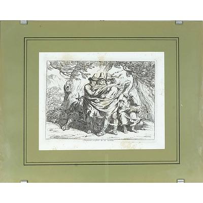 Bartolomeo Pinelli (Italian 1781-1835) Briganti Sorpresi da un Turbine, Engraving