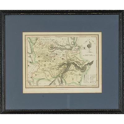 Matthews and Leigh Antiquarian Hand-coloured Map of Jordan, 1812