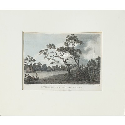Robert Cleveley (1747-1809) A View in New South Wales, Hand Coloured Engraving, Circa 1789