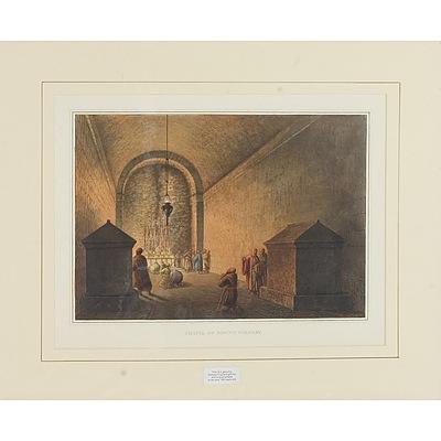 Luigi Mayer (Italian 1755-1803) Chapel of Mount Calvary, Colour Engraving, Circa 1810