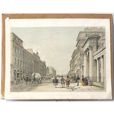 After Samuel Swarbreck (1798-1866) The Regent's Bridge Waterloo Place, Colour Lithograph