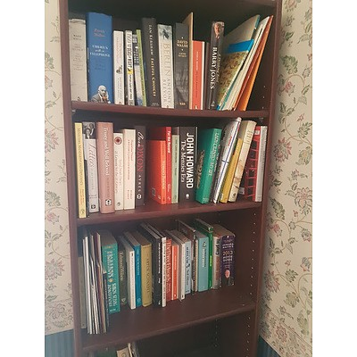 LATE ADDITION, Five Shelves of Various Novels and Biographies, Including John Howard The Menzies Era, A Thinking Reed Barry Jones