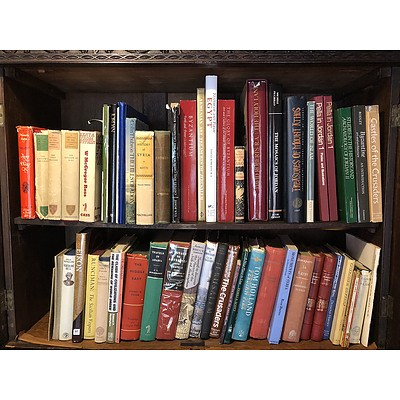 LATE ADDITION, Two Shelves of Various Books, Hitti History of Syria, Henry Salt A Voyage to Abssinia and More