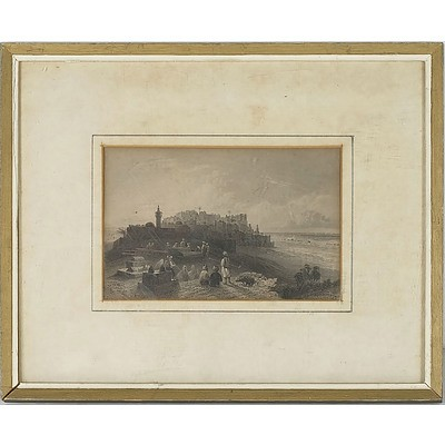 William Henry Bartlett (1809-1854) 19th Century Lithograph of the Ancient Joppa (Jaffa) Holy Land