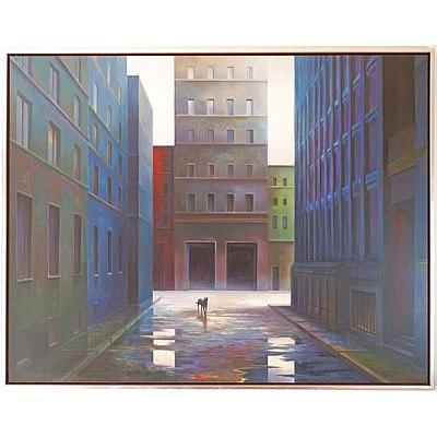 Jerzy W. Michalski (1949-) Dog Day 1999, Oil on Linen