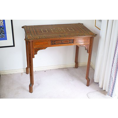 Syrian Profusely Inlaid Side Table