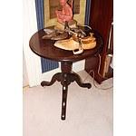 Antique Style Cedar Lamp Table