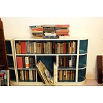 Large Group of Antique and Vintage Books Including Francis Bacon, Walt Whitman, Folio Society, and Three Piece Bookshelf