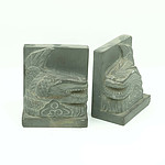 Pair of Asian Carved Stone Dragon Form Bookends