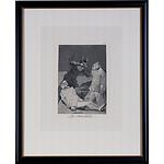 Francisco de Goya (Spanish 1746-1828) Los Chinchillas, Engraving