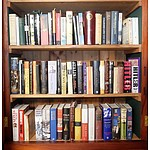 Three Shelves of Books Including English History 1914-1945 by Taylor, In Search of Ireland by H.V Morton, A Short History of International Affairs 1910-39 by Gathorne Hardy