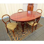 Four Late Victorian Balloon Dining Chairs and 1920's Maple Dining Table