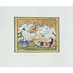 Indo Persian Miniature Painting, Gouache and Ink on Paper, 20th Century