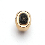 14ct Yellow Gold Gents Signet Ring With Carved Gemstone