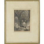 Thomas Allom (1804-1872) 19th Century Lithograph of the Entrance to the Holy Sepulchre, Jerusalem