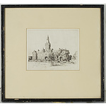 Victor Ernest Cobb (1876-1945) Ormond College, Etching