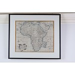 Emanuel Bowen (1694-1767) Hand Colored Map of Africa, Published 1744