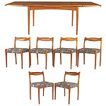 Fler '64' Six Person Teak Dining Suite Designed by Fred Lowen