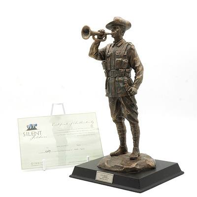 Limited Edition Gibson Cast Resin Silent Soldiers, The Last Post, 3769/5000