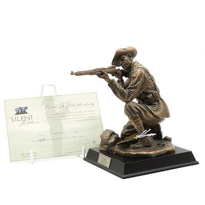 Limited Edition Gibson Cast Resin Silent Soldiers, Taking Aim, 1056/5000