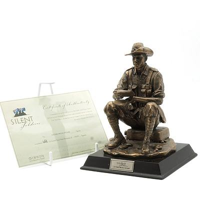 Limited Edition Gibson Cast Resin Silent Soldiers, Letters From Home, 468/5000