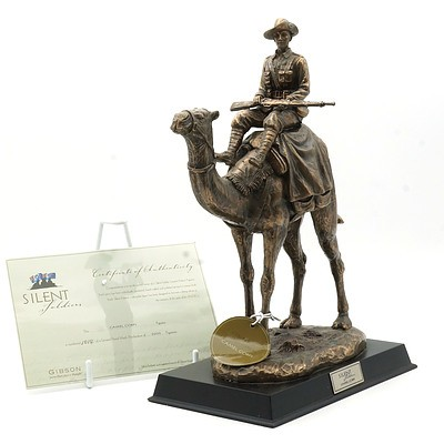 Limited Edition Gibson Cast Resin Silent Soldiers, Camel Corps, 1014/5000