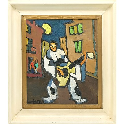 Jean Roger (French 1924-) Musician Oil on Board