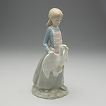 Spanish NAO Figure of Girl with Duck