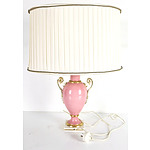 Hand Painted Italian Capodimonte Gilt Porcelain Table Lamp
