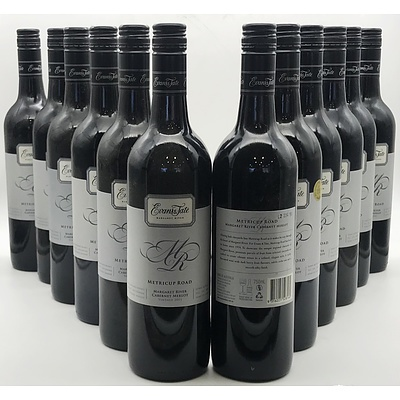 Case of 12x Evans & Tate 2011 Metricup Road Cabernet Merlot 750ml