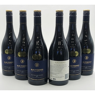 Case of 6x Blue Pyrenees Estate 2014 Section One Shiraz 750ml
