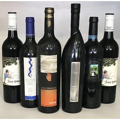 Case of 6 Pokolbin Red Wines 1x Tempus Two 2004 Uno Shiraz Viognier & 5 Assorted