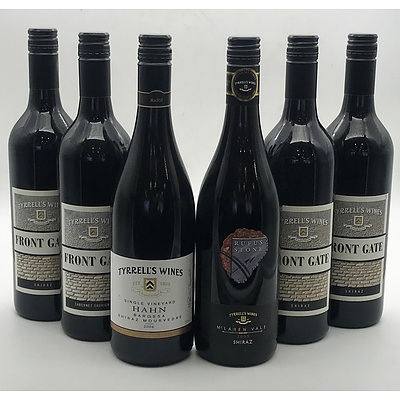 Case of 6x Tyrell's Wines Assorted Red Wines