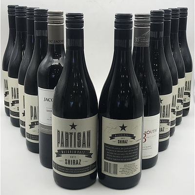 Case of 10x Partisan 2011 Shiraz 750ml & 2x Misc Red Wines
