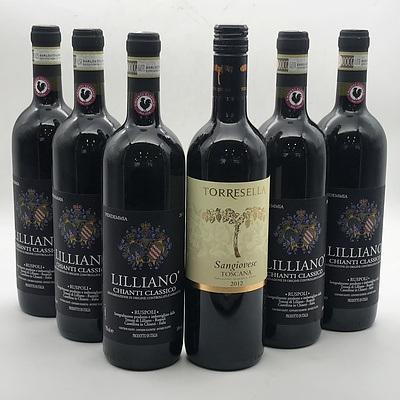 Case of 5x Tenuta Di Lilliano 2011 Chianti Classico & 1x Matching Italian Wine