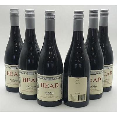 Case of 6x Head 2012 Old Vine Grenache 750ml