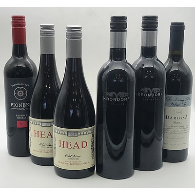 Case of 6x Assorted Barossa Valley Krondorf Red Wines