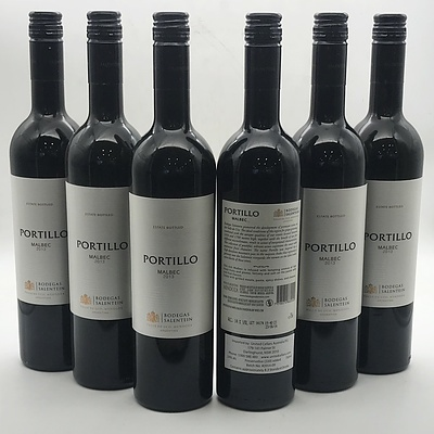 Case of 6x Bodegas Salentein 2013 Portillo Malbec 750ml