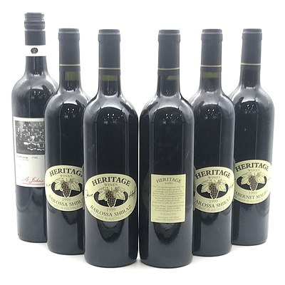 Case of 5x Vintage Heritage Wines Barossa Valley & 1x Matching Barossa Red Wines