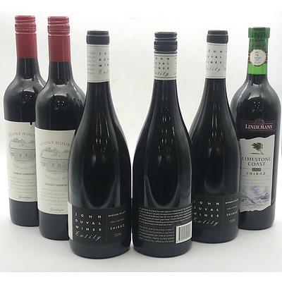 Case of 3x John Duval 2005 Entity Shiraz & 3 Misc Red Wines