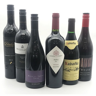Case of 3x International Red Wines & 3x Australian Red Wines