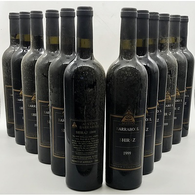 Case of 12x Austin's Barrabool 1999 Shiraz 750ml