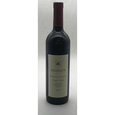 Bottle of Rusden 2007 Ripper Creek Cabernet Sauvignon Shiraz 750ml