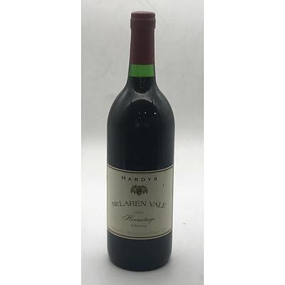 Bottle of Hardys 1991 McLaren Vale Hermitage Shiraz 750ml