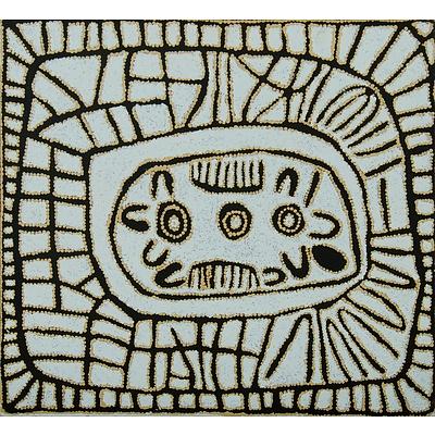 NUNGURRAYI Pantjiya (Born c.1936) 'Kungkiyunti Rockhole Site'