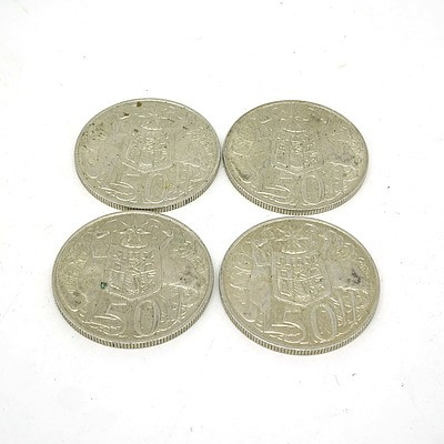 Four 1966 Silver 50 Cent Coins