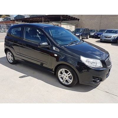 10/2009 Holden Barina  TK MY09 3d Hatchback Black 1.6L