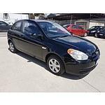 5/2006 Hyundai Accent 1.6 LS 3d Hatchback Black 1.6L
